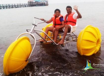 aqua cycle rameswaram agnitheertham