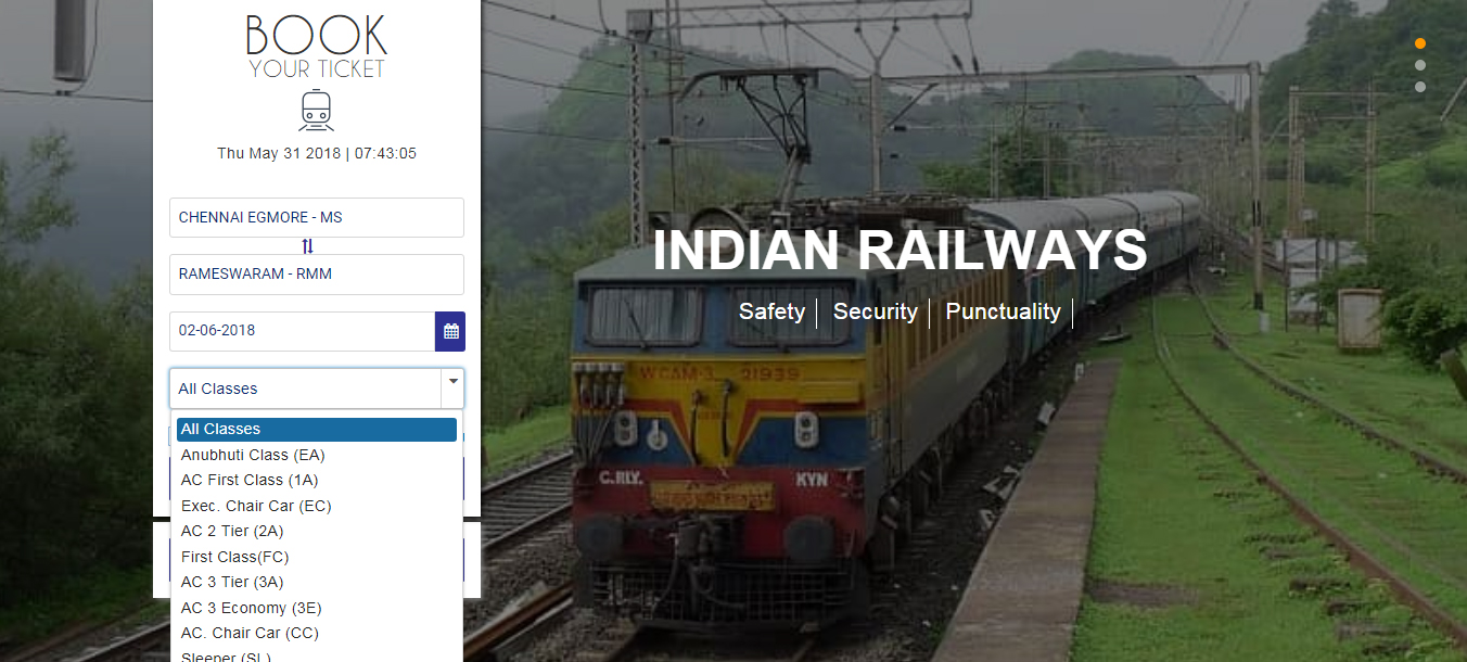 train seat availability check new website